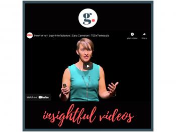Insightful Videos - How to turn busy into balance | Sara Cameron | TEDxTemecula